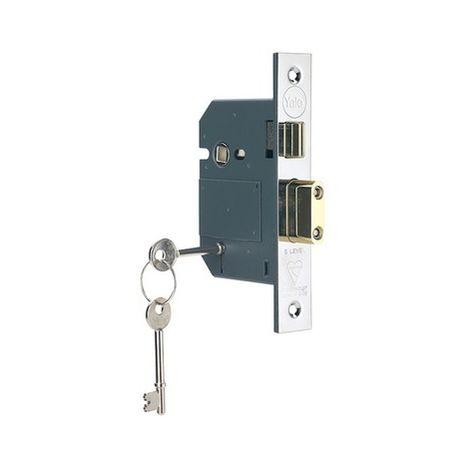 Hi-Security 5 Lever Mortice Sashlock