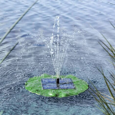 HI Solar Floating Fountain Pump Lotus Leaf - Green