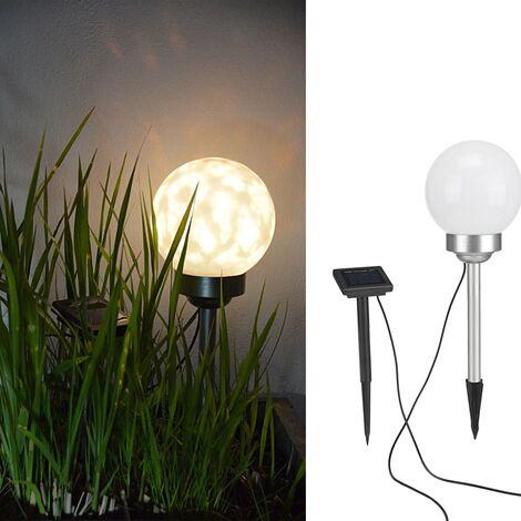 HI Solar LED Rotating Garden Ball Light 15 cm - White