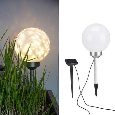 HI Solar LED Rotating Garden Ball Light 20 cm - White