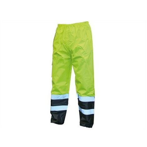 Hi-Vis Motorway Trousers Yellow Black
