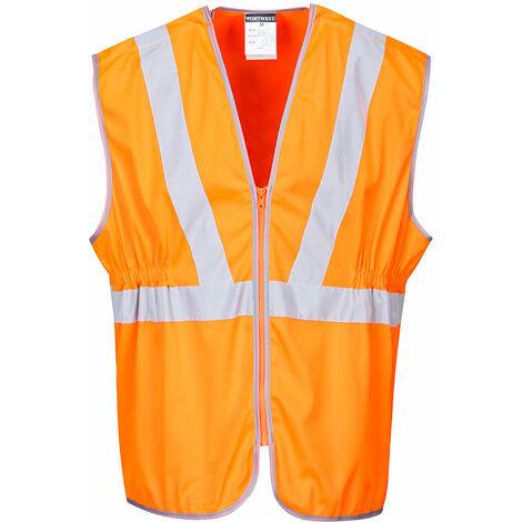 Hi-Vis Vests, Orange, For The Rail Industry