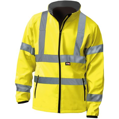 Hi-Vis Yellow Softshell Jacket - L (44in)
