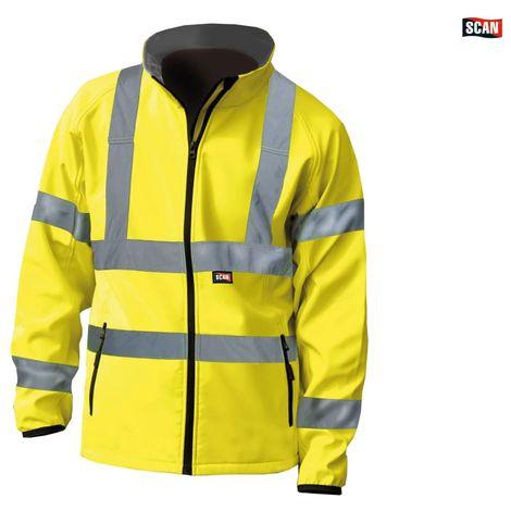 Hi-Vis Yellow Softshell Jacket - XXL (52in)