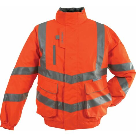 Hi-Visibility Bomber Jackets, Orange