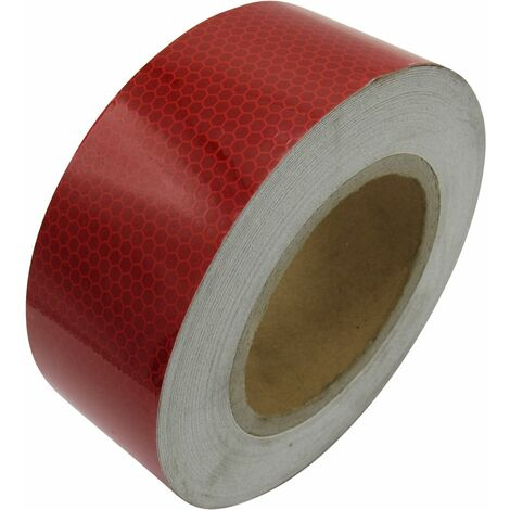"main image of ""Hi Viz Reflective Tape Red (25M Sticky Adhesive High Vis Warning)"""
