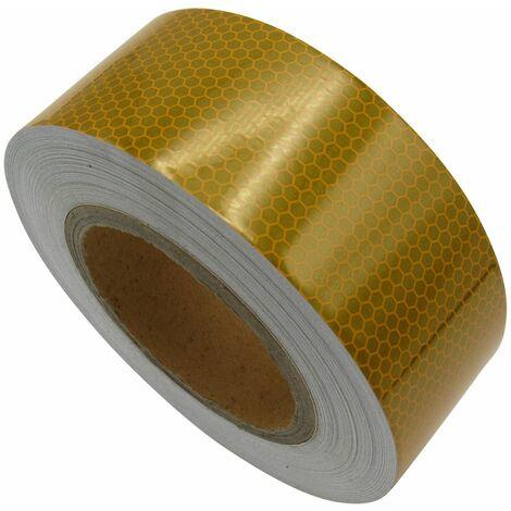 "main image of ""Hi Viz Reflective Tape Yellow (25M X 50MM Sticky Adhesive High Vis Warning)"""