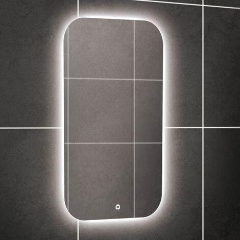 HiB Ambience 40 Steam Free LED Bathroom Mirror 800mm H x 400mm W