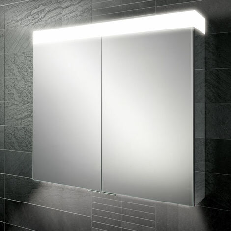 HiB Apex 100 Aluminium Bathroom Cabinet with Mirrored Sides 750mm H X 1000mm W