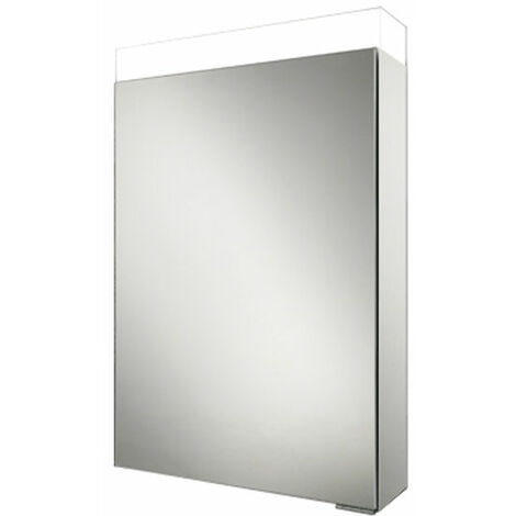 HiB Apex 50 Aluminium Bathroom Cabinet with Mirrored Sides 750mm H X 500mm W
