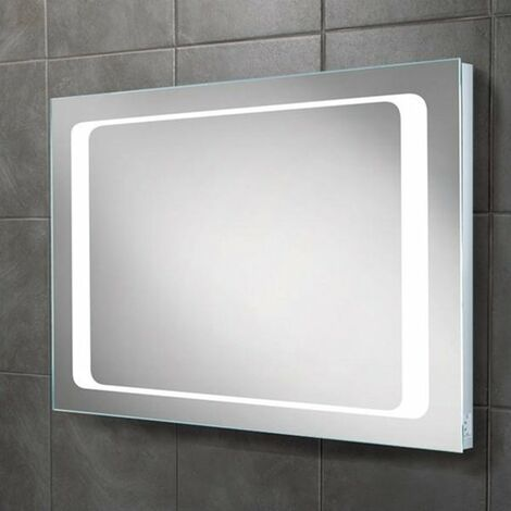 HiB Axis Demistable LED Bathroom Mirror 600mm H x 800mm W