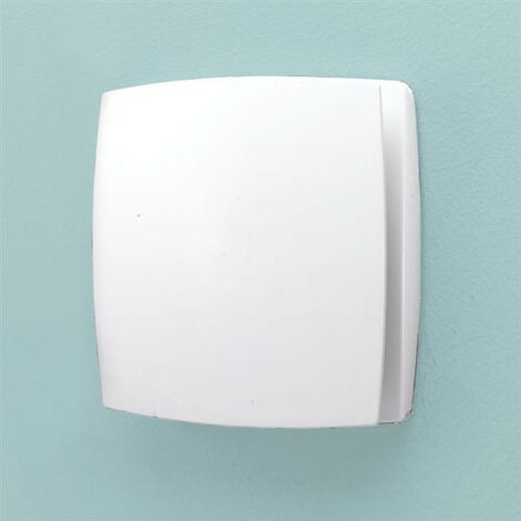 HIB Breeze T White Bathroom Shower Ventilation Wall Mounted Extractor Fan System