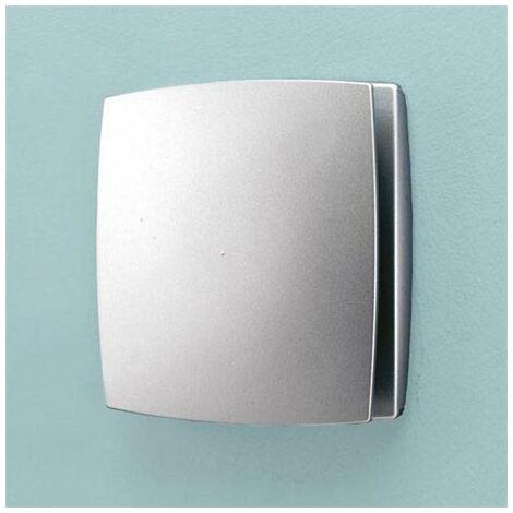 HIB Breeze Wall Mounted Bathroom Fan with Timer & Humidity Sensor Matte Silver