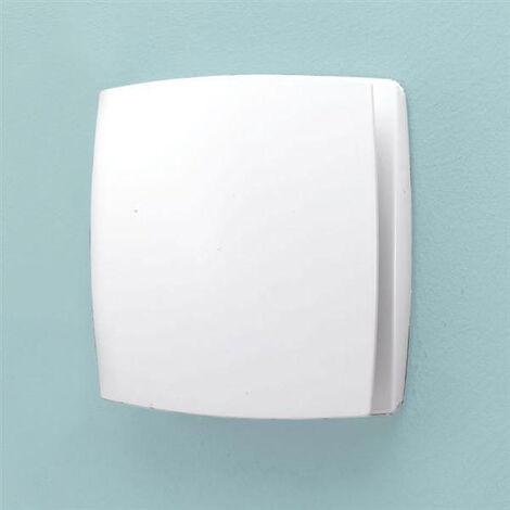 HIB Breeze Wall Mounted Bathroom Timer & Humidity Sensor Fan White