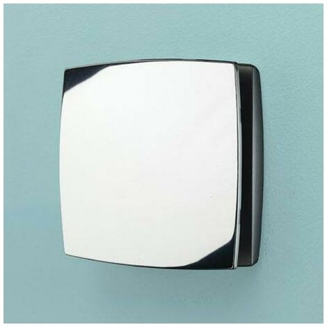 HIB Breeze Wall Mounted Extractor Fan With Timer Chrome
