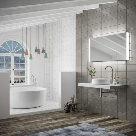HiB Connect 120 Designer LED Bathroom Mirror 600mm H x 1200mm W