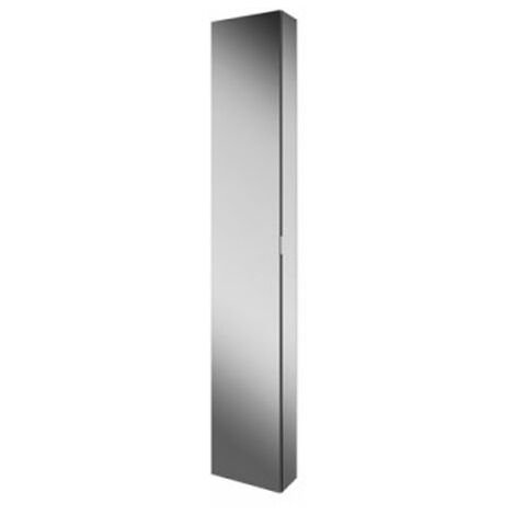 HiB Eris 30 Single Door Mirrored Tall Aluminium Bathroom Cabinet 1700mm H x 300mm W