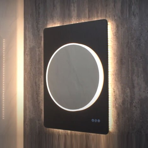 HiB Frontier 60 LED Bathroom Mirror 800mm x 600mm W