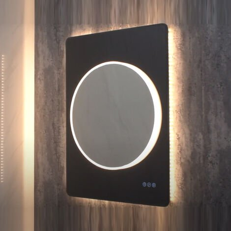 HiB Frontier 70 LED Bathroom Mirror 900mm H x 700mm W