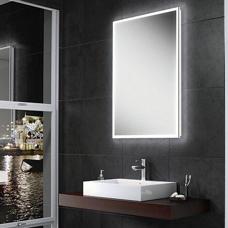 HiB Globe 50 Steam Free LED Bathroom Mirror 700mm H x 500mm W