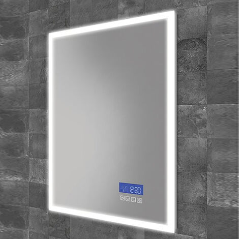 HiB Globe Plus 50 LED Bathroom Mirror 700mm H x 500mm W