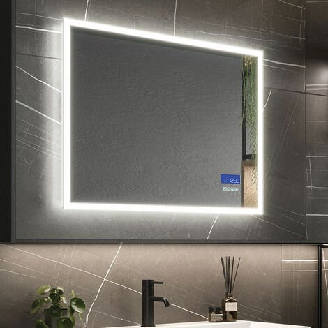 HiB Globe Plus 80 LED Bathroom Mirror 600mm H x 800mm W