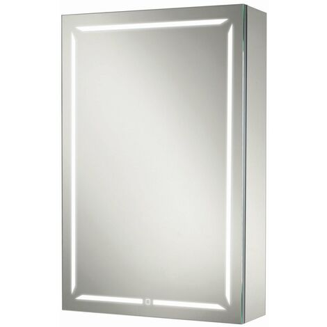HiB Groove 50 Illuminated Bluetooth Bathroom Cabinet 700mm H X 500mm W