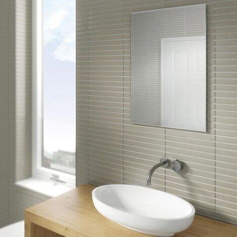 HiB Joshua Designer Bathroom Mirror 700mm H x 500mm W