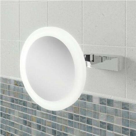 HiB Libra Magnifying Bathroom Mirror 200mm Diameter