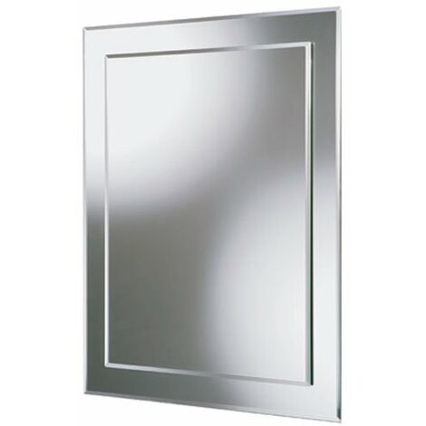 HiB Linus Designer Bathroom Mirror 700mm H x 500mm W