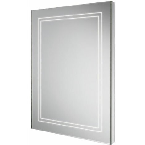 HiB Outline 50 LED Back-Lit Bathroom Mirror 700mm H x 500mm W