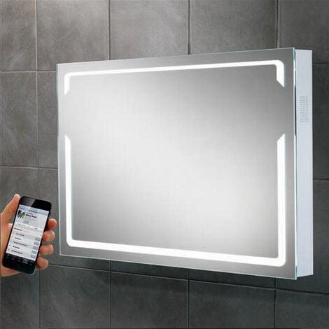 Hib Pulse Modern Bathroom Led Illumination Bluetooth Mirror