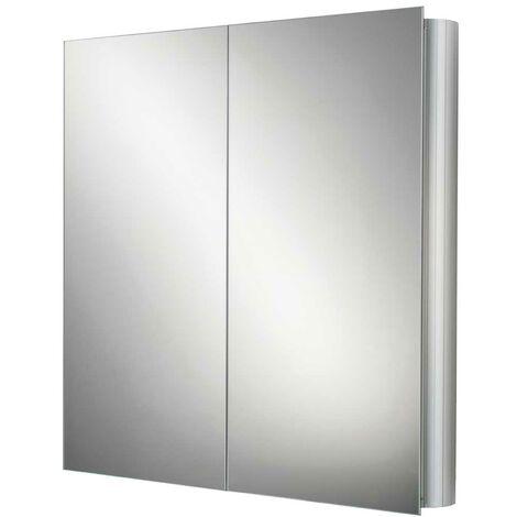 HiB Quantum Aluminium Bathroom Cabinet 700mm H x 600mm W x 145mm D