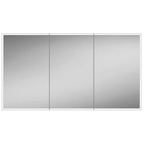 HiB Qubic 120 Double Door LED Bathroom Cabinet 700mm H x 1200mm W x 130mm D