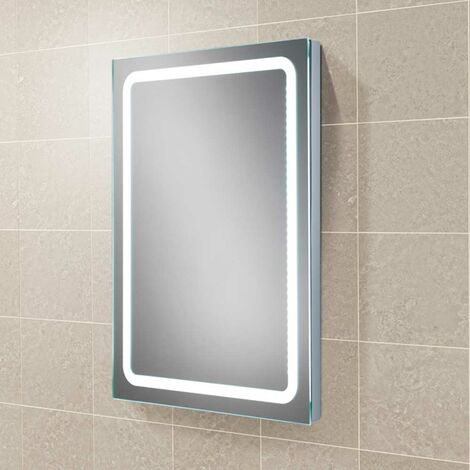 HiB Scarlet LED Back-Lit Bathroom Mirror 600mm H x 800mm W