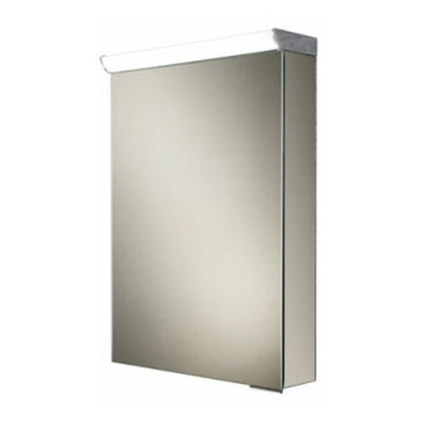 HiB Spectrum Aluminium Illuminated Bathroom Cabinet 700mm H x 500mm W x 115/150mm D