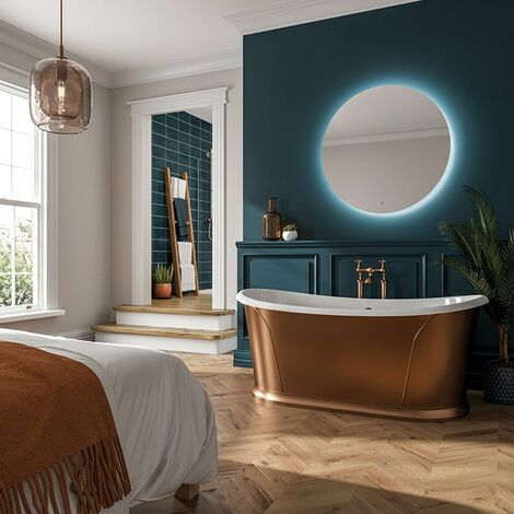 HiB Theme 100 Round LED Bathroom Mirror 980mm Diameter
