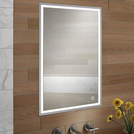 HiB Vanquish 50 Single Door Recessed Led Bathroom Cabinet 730mm H X 530mm W