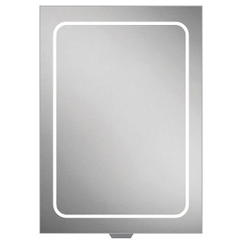 HiB Vapor 50 Aluminium LED Single Door Bathroom Cabinet 700mm H x 500mm W x 122mm D