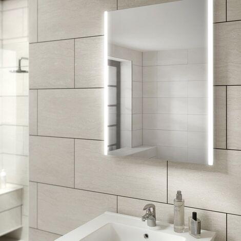 Hib Zircon 60 LED Bathroom Modern Illuminated Steam Free Mirror 800 X 600