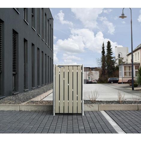 HIDE Hide Mülltonnenbox 240l Holz; 1er Box natur grau 1er Box
