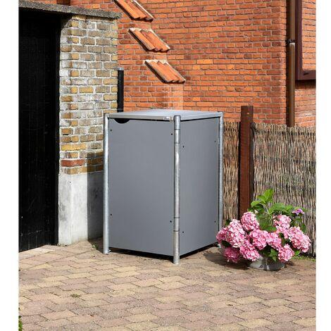 HIDE Hide Mülltonnenbox 240l Kunststoff; 1er Box grau 1er Box