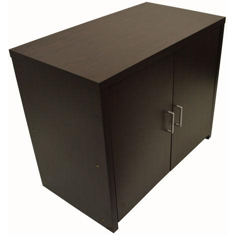 HIDEAWAY - Sideboard Office Computer Storage Desk - Dark Oak