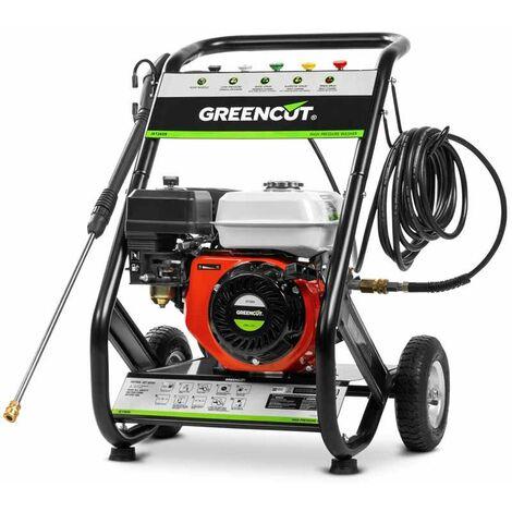 Hidrolimpiadora JET260X con motor gasolina 4 tiempos de 208cc 8cv. 10m manguera. 5 boquillas de presión diferentes - Greencut