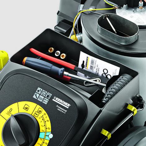 Hidrolimpiadora Trifásica Agua Caliente Karcher 8/18 4 C Versiones trifásicas a.caliente Gama compacta con enrollador
