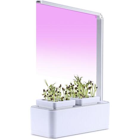 Hidroponia creciente del sistema LED crece la luz interior jardin de hierbas Starter Kit germinadores Kits 2 Macetas para Gardening