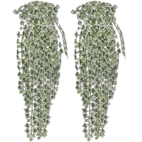 Hiedra variegada artificial, 90 cm, 2 pzas