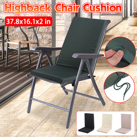 High Back Chair Cushion Removable Office Chair Cushion Garden Leisure Cushion Foam Cushion (Black)