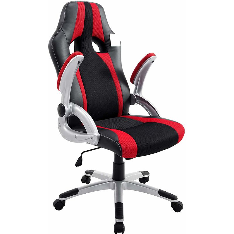 Computer Chair Racing Gaming Office Chair Pu Leather Swivel Computer Desk Sports