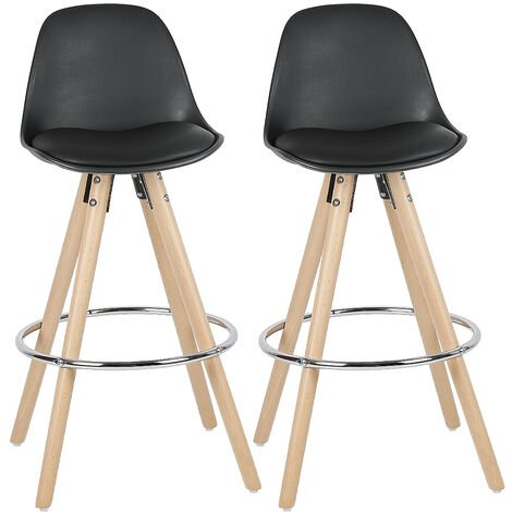 High bar stools in PP with two black outer iron rings